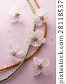 벚꽃과 매듭과 핑크색 종이 28118537
