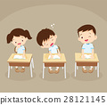 student boy sleeping in classroom 28121145