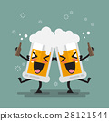 Two drunk beer glasses character 28121544