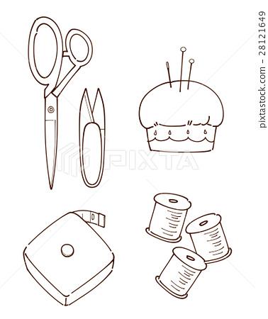 Fashionable sewing set drawing 28121649