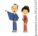 日式服裝 矢量 人 28123157