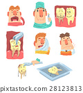 Funny Cartoon Dentist And Patient Illustration 28123813