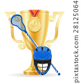 lacrosse cup winner gold stock vector illustration 28125064