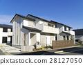 주택 도시 이미지 푸른 하늘 맑은 고개 28127050