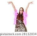 Elegant woman in evening sequin dress 28132034