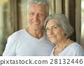 beautiful elderly couple outdoor 28132446