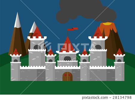 Castle Vector Illustration Flat 28134798