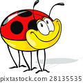 funny ladybug cartoon 28135535
