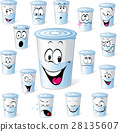 dairy product in plastic cup - funny cartoon  28135607