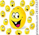 funny easter egg cartoon 28135627