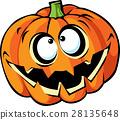 Scary halloween pumpkin cartoon 28135648