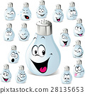 salt shaker cartoon with many expressions 28135653