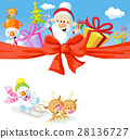 Christmas design with Santa Claus, gifts, xmas 28136727