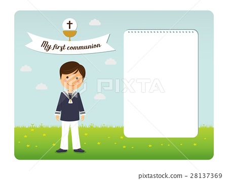 First communion child invitation  28137369