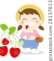 strawberries, strawberry, picking 28137613