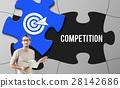 Achievement Success Goals Target Jigsaw Puzzle Concept 28142686