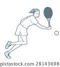 網球 女性 女 28143698