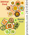 Lunch meals icon set for food theme design 28145804