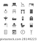 Home furniture flat icons 28146223