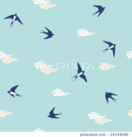 Background pattern Swallow 28148086