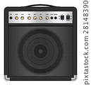 real classic black guitar amplifier vector 28148390