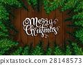 Christmas Tree Branches Border. 28148573