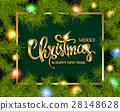 Christmas Tree Branches Border 28148628