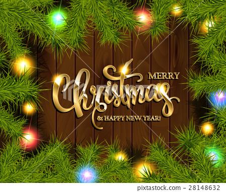 Christmas Tree Branches Border 28148632