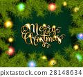 Christmas Tree Branches Border 28148634
