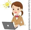 PC를 사용하여 공부하는 학생 번쩍 28149721