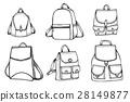 Set of Sketch Doodle Backpacks. 28149877