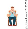 Anxious man feeling sadness and stress  28153036