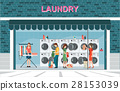Building exterior front view laundry  28153039