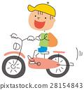 A boy riding a bicycle 28154843