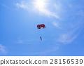 降落傘 滑翔傘 天空 28156539