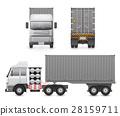 Trailer truck vector 28159711