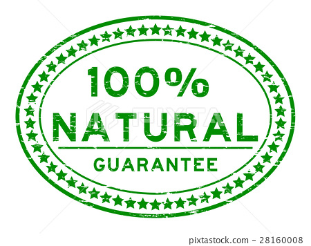 Grunge green 100 percent natural oval seal stamp 28160008