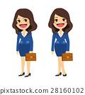 Businesswoman Flat Cartoon 28160102