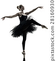 Ballerina dancer dancing woman isolated silhouette 28160930