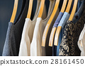 Female clothes hanging on clothesline 28161450