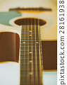 Acoustic guitar bridge and strings 28161938