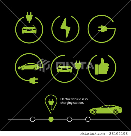 Vector electric vehicle. Electric car icon. Hybrid 28162198