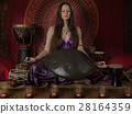 Meditation with hand pan musical instrument 28164359