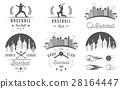Set of Vector Logo and Badges Baseball  28164447