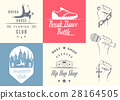 Vector Set of Badges, Logos and Sign Break Dance 28164505