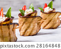 delicious Eggplant Rolls with feta cheese, tomato 28164848