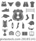 Vector set of icons volleyball 28165141