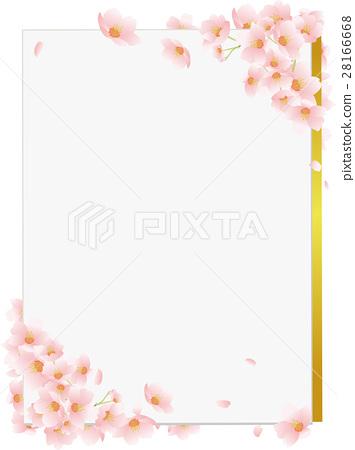 벚꽃 색종이 세로 28166668