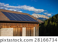 Solar panels on the roof 28166734