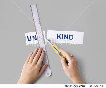 Unkind Hand Cut Word Split Concept 28168341
